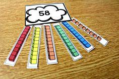 march math, read across america, base ten rainbows, first grade math, second grade math, math centers