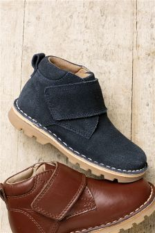 Navy Suede Desert Boots (Younger Boys)