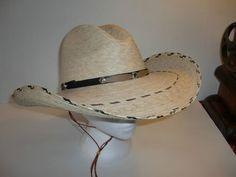 1bb660bfb3d67 TOM MIX GUS mata vaca PALM LEAF Straw 2 Cowboy Western SOUTH WEST HAT ONE  SIZE