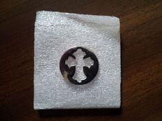 Corss Floating Locket Window Plate Cross Cutout Silver Living Memory Charms #Locket