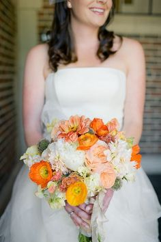 The Perfect Palette: {A Citrus Soiree}: Shades of Orange, Gray, Yellow + White