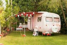 Pretty in pink camper..