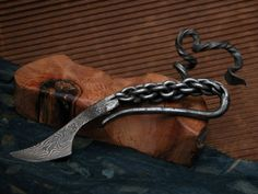 Railroad Spike Knife With Pineapple Twist Handle Weapons