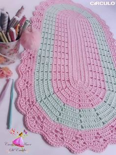 Best 11 Learn how to make Crochet color step by step crochet color art diy embroideryandstitching embroidery and stitching videos – SkillOfKing. Crochet Carpet, Crochet Home, Diy Crochet, Crochet Doilies, Crochet Bobble, Step By Step Crochet, Crochet Table Runner, Crochet Flower Patterns, Crochet Squares