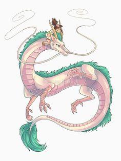Spirited Away, Chihiro riding Haku.