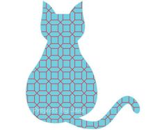 Items similar to Siamese cat applique template - pdf applique ...