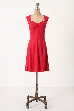 Anthropologie Raspberry Sweetheart Dress - $57