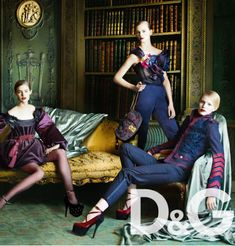 Dolce & Gabbana Ad Campaigns Featuring French Furniture