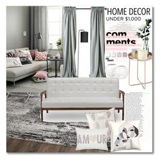 """""""Home decor"""" by vkmd on Polyvore featuring interior, interiors, interior design, home, home decor, interior decorating, Safavieh, Laura Ashley, Baxton Studio and Serena & Lily"""