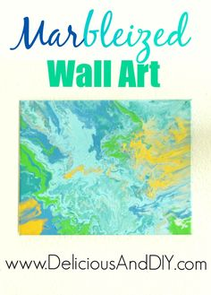 Marbleized Wall Art-