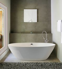 """Freestanding. Clean, simple lines. Bold design.      2013 Silver ADEX Award Winner   Allissa 2 61.375"""", Alissa 3 is a little wider and deeper """"2 person"""" Material is ESS"""