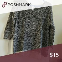 American Rag lace knitted sweater Used in excellent condition. Size M but can fit a large too. Sweaters Crew & Scoop Necks
