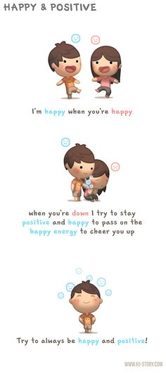 Feliz e Positivo .... eu sou feliz quando você está feliz ... quando você está pra baixo Eu tento manter o pensamento positivo e feliz, e  passar uma energia feliz para animá-lo ... Tente sempre ser feliz e positivo! ....___HJ-Story :: Feliz