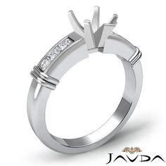White Gold Ring Pear Settings | Engagement Semi Mount Rings