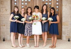 mismatched navy bridesmaids - Google Search