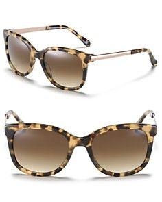 Kate Spade New York Camel Tortoise Cat Eye Sunglasses $128.00