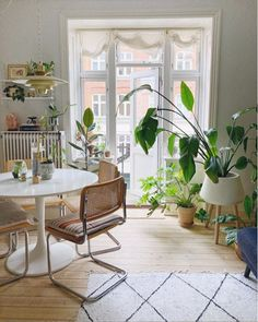 my scandinavian home: The Relaxed, Boho Copenhagen Home of a Plant Enthusiast Beautiful Interior Design, Shop Interior Design, Beautiful Interiors, Beautiful Kitchens, Beautiful Homes, One Bedroom Flat, Home Id, Danish Style, Dining Room Design