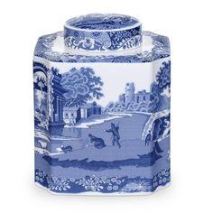 Spode Blue Italian Tea Caddy