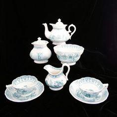 transferware child's tea set c.1840