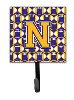 Letter N Football Purple and Gold Leash or Key Holder CJ1064-NSH4