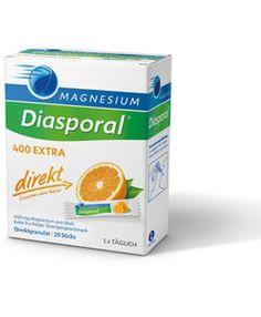 Magnesium-Diasporal® 400 EXTRA direkt, hochdosiert mit Citratanteil.