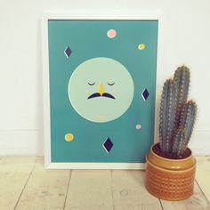 Moon Man Print - NEW – Longstoryco