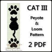 CAT III Peyote and Loom Pattern - 2 pdf - via @Craftsy