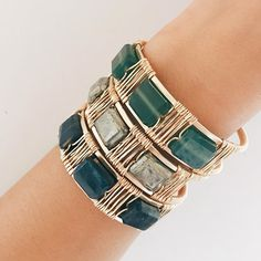 'Tis the season for new holiday cuffs Shop our new Lots O' Rocks Square Wrapped Cuff in store and online. Xx