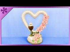 DIY How to make table decoration, standing heart, First Communion (ENG Subtitles) - Speed up #478 - YouTube