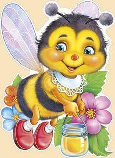 Cartoon Bee, Cute Cartoon, Cute Bee, Rock Decor, Bee Art, Beautiful Gif, Bee Happy, Smileys, Bees Knees