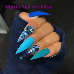 There are many kinds of blue nail art designs, which are also one of the most popular nail colors. In previous articles, we have introduced the art design of Dark Blue Nails, Navy Blue Nails and Blue Sparkle Nails, which are welcomed by women. Blue Nail, White Nail, Stiletto Nail Art, Summer Stiletto Nails, Fire Nails, Luxury Nails, Best Acrylic Nails, Acrylic Gel, Dream Nails