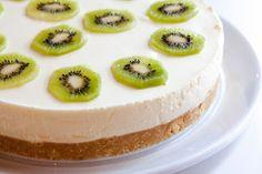 Ostekake Kiwi, Cheesecake, Sweets, Baking, Desserts, Cakes, Food, Tailgate Desserts, Deserts