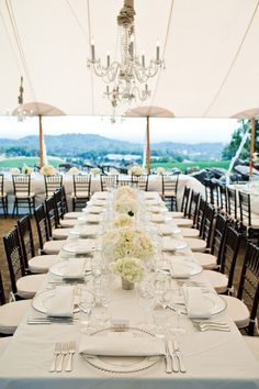Gorgeous wedding overlooking the vineyards at Chalk Hill Estate in Sonoma - photo by Cliff Brunk | via junebugweddings.com