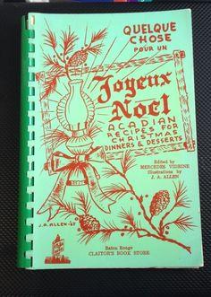 Rare Vintage 1967 Joyeux Noel Acadian Christmas Cookbook Baton Rouge Louisiana