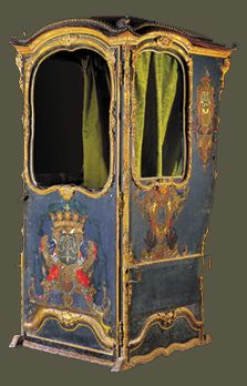 Sedan Chair, light blue.