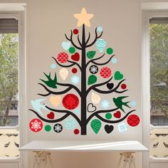 Christmas Tree Wall Decal Kit Create your Own Xmas Tree Decor Christmas Wall Decal Kit by Chromantics Christmas Tree Wall Decal, Christmas Classroom Door, Office Christmas, Christmas Door, Xmas Tree, Christmas Crafts, Merry Christmas, Christmas Ornaments, Tree Tree