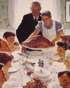 "Norman Rockwell - The Four Freedoms - ""Freedom from Want"" (1943)"