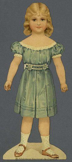 [Muñeca recortable]. Grabado — 1890-1910?