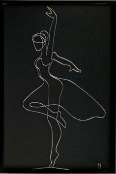 beauty seen through the eyes of the artist Wire Art, Wire Sculpture, Black And White Art Drawing, Sculpture Art, Line Art Drawings, Black Paper Drawing, Copper Art, Sculpture, Minimalist Art