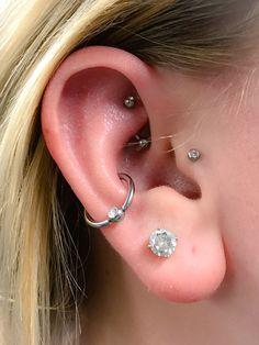 Cross Jewelry / Diamond Earrings / Tiny Diamond Cross Studs in Rose Gold / Rose Gold Earrings / Religious Jewelry Gift / Christmas Gfit - Fine Jewelry Ideas Sapphire Earrings, Rose Gold Earrings, Crystal Earrings, Stud Earrings, Cross Jewelry, Ear Jewelry, Body Jewelry, Jewellery, Different Ear Piercings