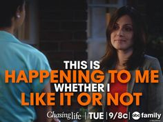 """""""This is happening to me whether I like it or not"""" - April 