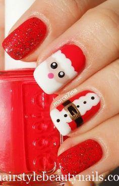 santa claus nails art design beauty (1) http://www.hairstylebeautynails.com/nails-designs/santa-claus-nails-design/