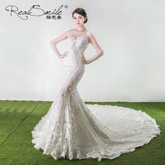Wedding dress Korean style big tail smashing wedding dress 2017 new bride married sung tail wedding