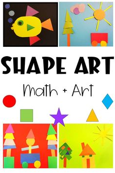Math and art are simple subjects to combine. This math and art project for kids only requires construction paper and glue. Kids practice their 2D shapes as they create beautiful pieces of art. #mathandart #math #mathforkids Math Activities For Kids, Rainy Day Activities, Math For Kids, Hands On Activities, Preschool Math, Projects For Kids, Art Projects, Simple Subject, Creative Arts And Crafts