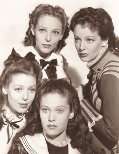 Sally Blane, Georgiana Young, Loretta Young, and Polly Ann Young in The Story of Alexander Graham Bell (1939)