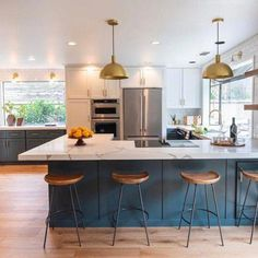 Alden Bar & Counter Stools - Petrol Blue - Expolore the best and the special ideas about Modern kitchen design Home Decor Kitchen, Rustic Kitchen, Diy Kitchen, Kitchen Furniture, Kitchen Interior, Kitchen Hacks, Kitchen Counters, Kitchen Bar Counter, Awesome Kitchen