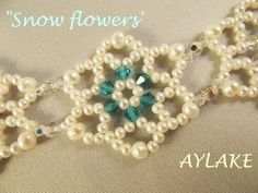 "▶ How to do bracelet ""Snowflowers"" simple tutorial - YouTube"