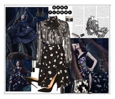 """Dark Florals"" by marionmeyer on Polyvore featuring Mode, Carven, Masquerade, Christian Louboutin, Givenchy, Marc Jacobs, Kate Spade, Astley Clarke und darkflorals"