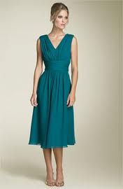 I like this teal dress, but shorter