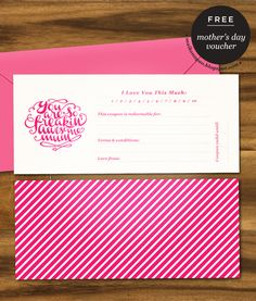 Maiko Nagao - diy, craft, fashion + design blog: Freebie: Mother's Day printable gift voucher by Maiko Nagao